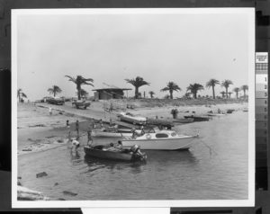 Old pictures of boats in old picture of Shelter Island, where the Best Western Plus Island Palms in in now, san diego, california